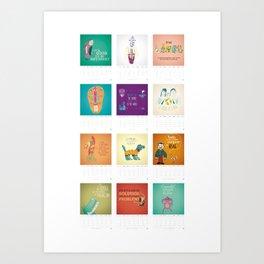 Calendario / Calendar / Calendrier 2013 Art Print