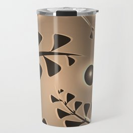 Pattern silver plant elements bronze luminous ethnic style. Travel Mug