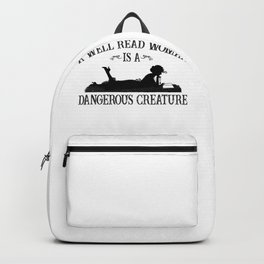 A well read woman  Backpack