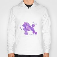 poodle Hoodies featuring Poodle by Carma Zoe