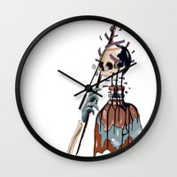 native Wall Clocks featuring Native  by PAFF