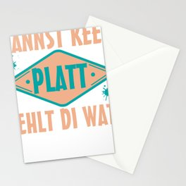 Low German saying East Frisian North Coast Funny Stationery Cards