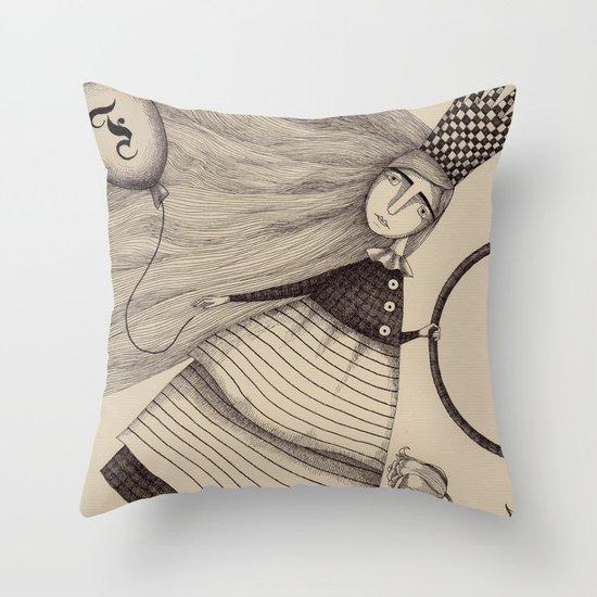 The Tulip Garden (2) Throw Pillow