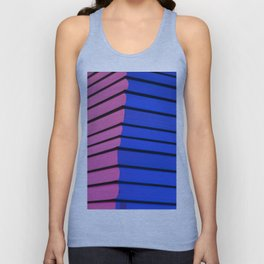 Pink and blue Unisex Tank Top