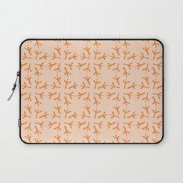 Bird Footmarks Grid Pattern Laptop Sleeve