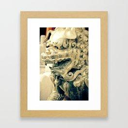 Beijing Bronze Lion Framed Art Print