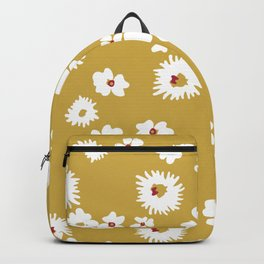 Modern liberty print on mustard ground Backpack