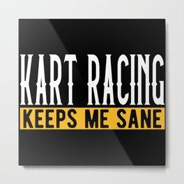 Kart Racing Lover Gift Idea Design Motif Metal Print