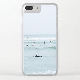 Tiny Surfers Lima, Peru Clear iPhone Case