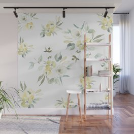 Yellow & Green Floral Wall Mural