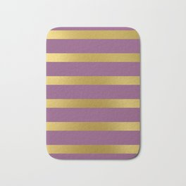 Baesic Gold & Purple Texture Shine Bath Mat