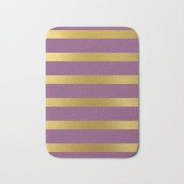 Baesic Gold & Purple Texture Shine Bath Mat