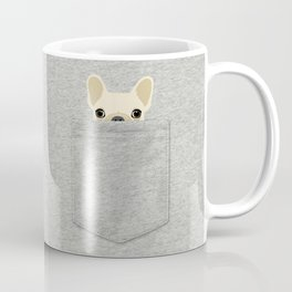 Pocket French Bulldog - Cream Coffee Mug