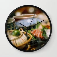 japanese Wall Clocks featuring Japanese by Laura L.