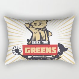 Seize the GREENS of production Rectangular Pillow