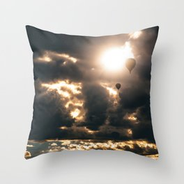 Albuquerque Hot Air Balloon Sunrise Throw Pillow