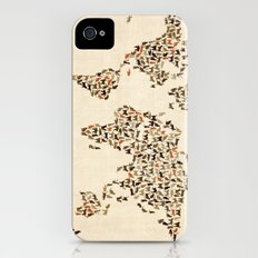 Cats Map of the World Map iPhone (4, 4s) Slim Case