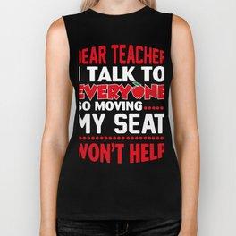 Funny Teacher Gift. Great T-Shirt Ideas Biker Tank