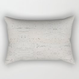 White Abstract Marble Pattern Rectangular Pillow
