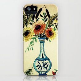 stitches of flowers. iPhone Case