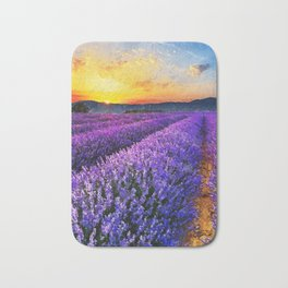 Lavender fields Bath Mat