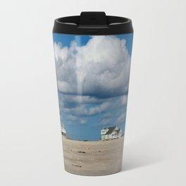 Clouds Over Beach Houses Travel Mug