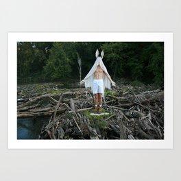 Salo:Barren River Art Print