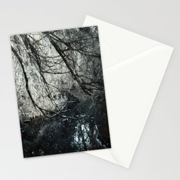 Cold colors and a touch of red Stationery Cards