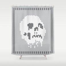 Skull Tile Shower Curtain