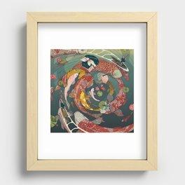 Ukiyo-e tale: The creative circle Recessed Framed Print