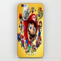 super mario iPhone & iPod Skins featuring super mario  , super mario  games, super mario  blanket, super mario  duvet cover, super mario  show by ira gora