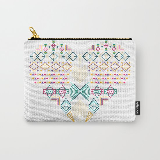 Aztec Heart Carry-All Pouch