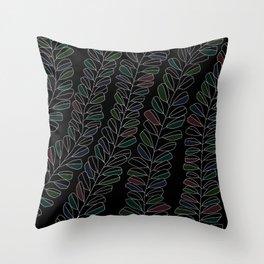 white ink 01 - colour ver. Throw Pillow