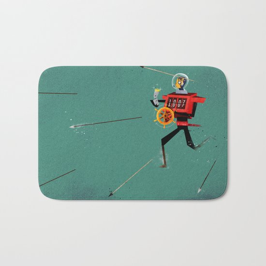 The Time Travelling Pirate Bath Mat