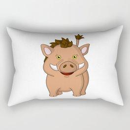 Wee Warthog Rectangular Pillow