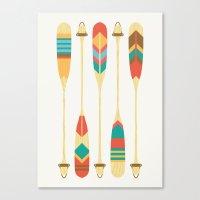 lake Canvas Prints featuring Summer Lake by Picomodi