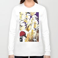 faces Long Sleeve T-shirts featuring Faces by Helen Syron