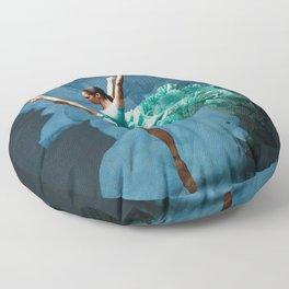 -O1- Blue Ballet Dancer Deep Feelings. Floor Pillow