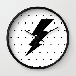 Lightning bolt and dots Wall Clock