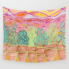 Cacti Sunset Wall Tapestry