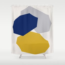 Abstraction_SHAPES_003 Shower Curtain