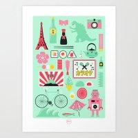 japan Art Prints featuring Japan! by Jenni's Prints