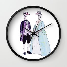 Master and Mistress Ostrich Wall Clock