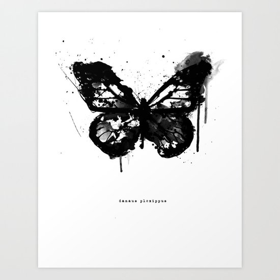 Black Monarch Art Print