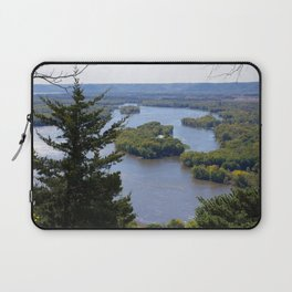 Upper Mississippi River, looking downriver from Buena Vista Park, Alma, WI Laptop Sleeve