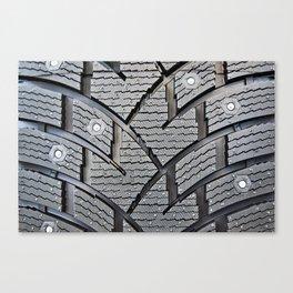 Background pattern winter stud tire Canvas Print