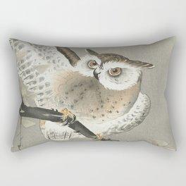 Long-eared owl in ginkgo Rectangular Pillow