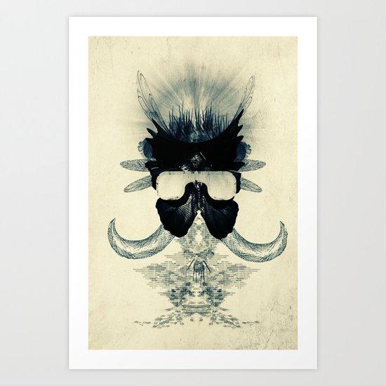 A black angel from Aksoum Art Print