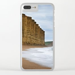 West Bay Cliffs Clear iPhone Case