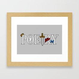 Merlin & Arthur - Poetry (Distressed) Framed Art Print